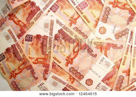 5000 rubles macro background