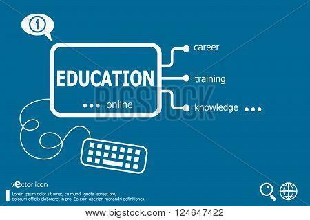 Education Word Cloud, Business Concept.