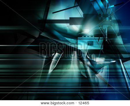 Abstract, Three Dimensional, Digital Background 10