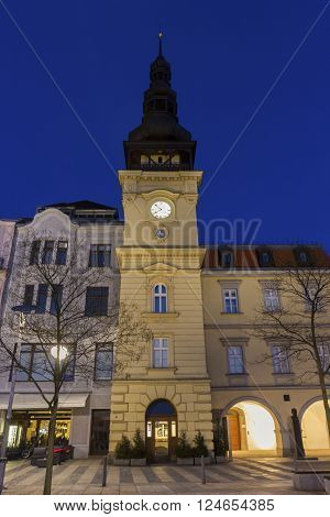 Masaryk Square - central square featuring the historic old city hall building