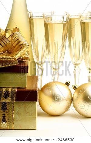 golden holyday card