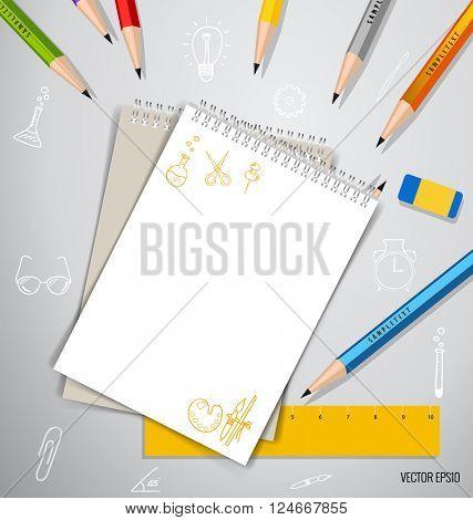 Paper, catalog, magazines, book mock up. Vector illustration.