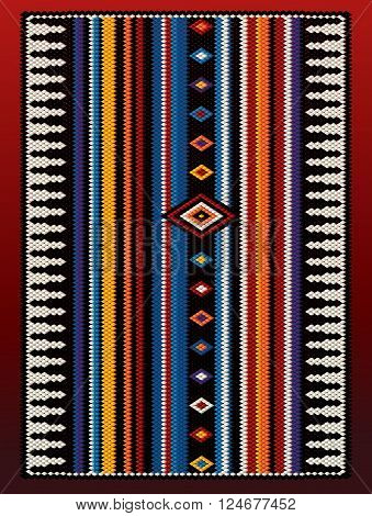 A Joyful Colors Asymmetric Design Traditional Rug