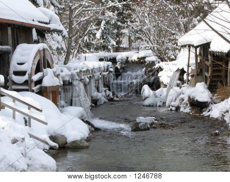 A Water Mill In Winter