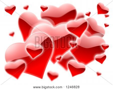 A Lot Of Red Hearts