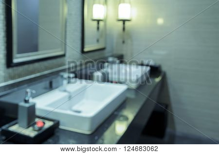 Blurred abstract image of toilet with wash basin