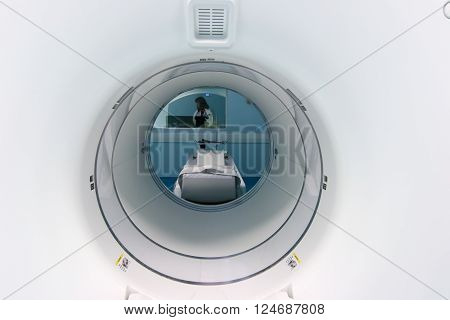 Thessaloniki Greece - February 17 2016: Official opening of the first CT imaging PET-CT scanner (PET-SCAN) in northern Greece in the hospital C. Papageorgiou