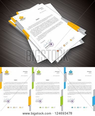 This is creative and colorful letterhead. Vector illustration.
