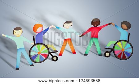 Disabled Children Physical Impairment Family Wheelchair inclusion Multi-Ethnic Group Community Outreach