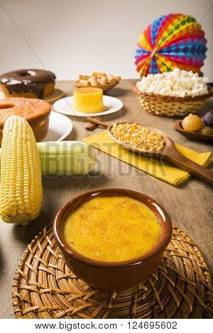 Corn Curau - Typical Food Of Green Corn - Tasty And Cheap - Typical And Popular Street Food