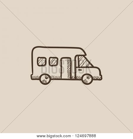 Motorhome sketch icon.