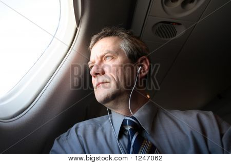 Man In Airplane