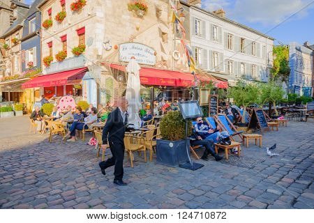 Downtown Scene, Honfleur