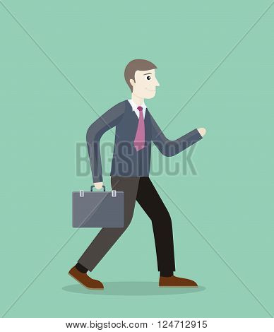 Time for invest, man with briefcase. Time investmen concept, finance and money, investor and stock market, business man invest gold, old gold money, banking treasure, roll dollar invest illustration
