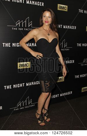 LOS ANGELES - APR 5:  Scottie Thompson at the The Night Manager AMC Premiere Screening at the Directors Guild of America on April 5, 2016 in Los Angeles, CA