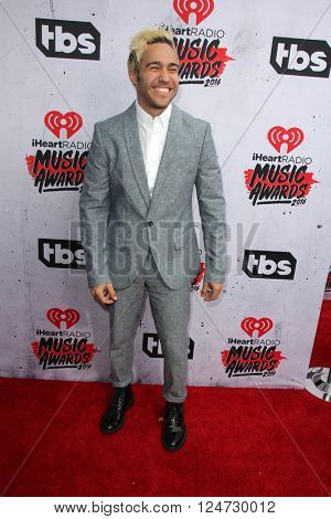 LOS ANGELES - APR 3:  Pete Wentz at the iHeart Radio Music Awards 2016 Arrivals at the The Forum on April 3, 2016 in Inglewood, CA