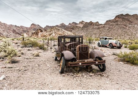 Old Rusty Car In Nelson Nevada Ghost Town