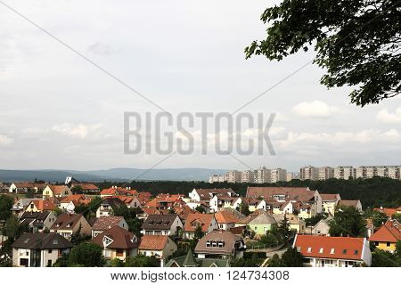 View over the hungarian city of Veszprem.