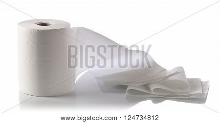 Paper Towel Isolated On White