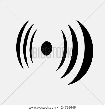 Abstract black antenne signal isolated on white. eps10