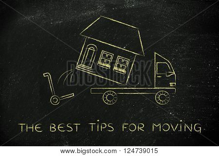 Entire House Being Loaded On Truck, The Best Tips For Moving