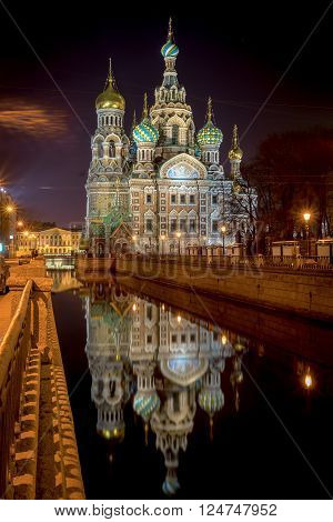 Church of the Saviour on Spilled Blood St. Petersburg Russia ** Note: Visible grain at 100%, best at smaller sizes