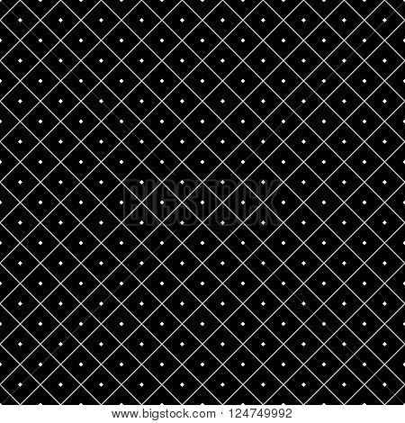 Polka dot seamless pattern. Rhombus ornament. Abstract fashion design. Geometric texture for background wallpaper wrapping and fabric textile. Template print website etc. Stock Vector illustration