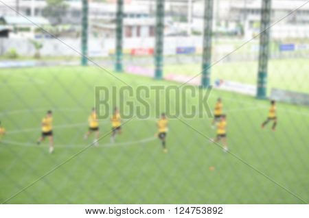 Blurry,motion Blur,players In Action Playing Football,speed Yoyo Test (soccer)