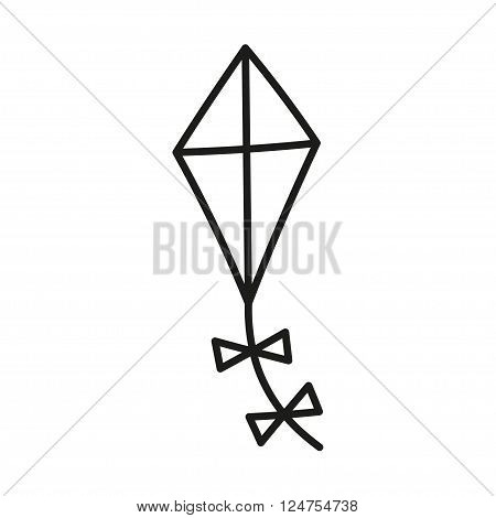 Kite simple icon vector, Flying kite icon