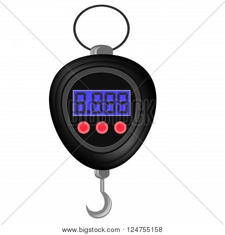 Digital Portable Weighing Scale for Fishing Isolated on White Background