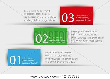 Vector colorful info graphics for your business presentations. Can be used for info graphics, graphic or website layout vector, numbered banners, diagram, web design. Eps 10