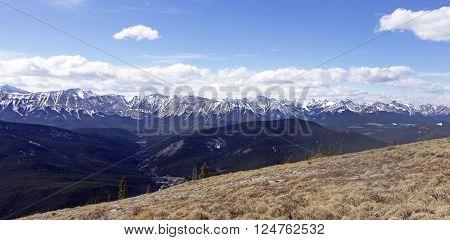 Picture taken on top of Prairie Mountain, Alberta,Canada.