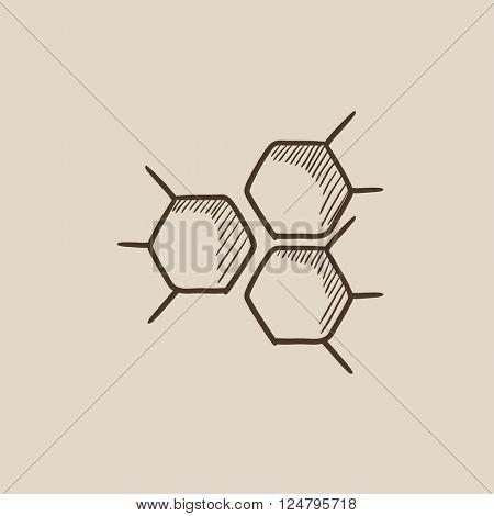 Chemical formula sketch icon.
