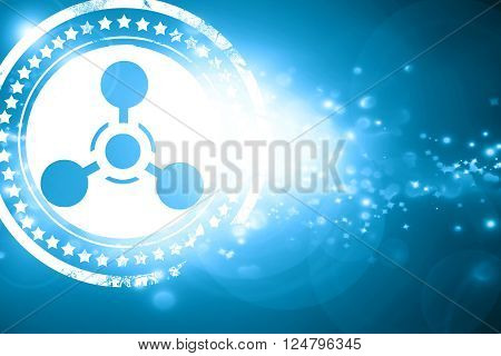 Glittering blue stamp: Chemical weapon sign on a grunge background with some scratches