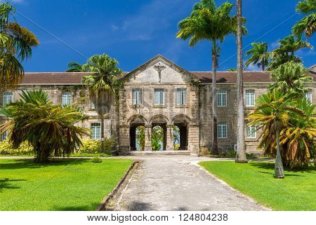 ancient beautiful building of Codrington College Barbados