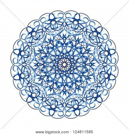 Hand Drawn Mandala Abstract Circle Ornament Vector Illustration