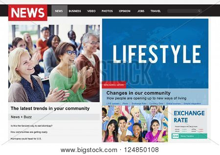 News Article Advertise Journalism Feeds Concept