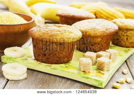 Corn Muffins With Bananas