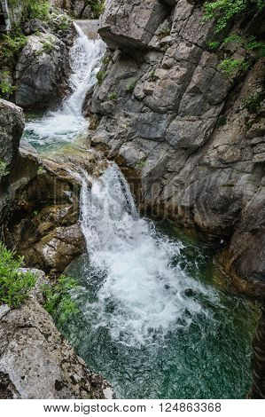 Waterfall in Olympus Mountains