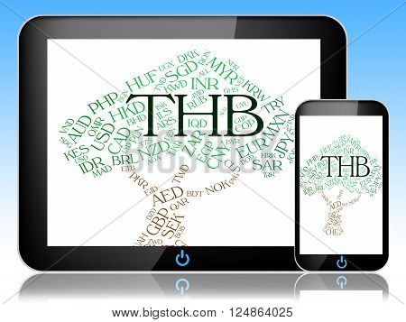 Thb Currency Represents Forex Trading And Coinage