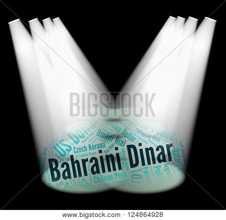 Bahraini Dinar Indicates Foreign Exchange And Coin