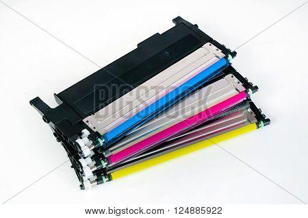 Toner Cartridge Set For Laser Printer. Computer Supplies.