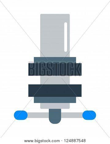 Mechanism icon flat style isolated on white background. Mechanism  flat symbol, Mechanism icon. Cartoon mechanism isolated on white
