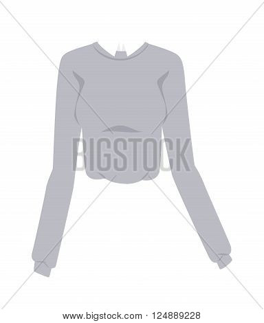 Glamour girls blouse and blouse design. Elegant cotton blouse with long classic sleeves. White womans fashion female shirt with long sleeves glamour clothing style vector illustration.
