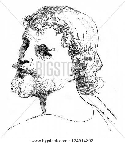 Judas, vintage engraved illustration. Magasin Pittoresque 1847.