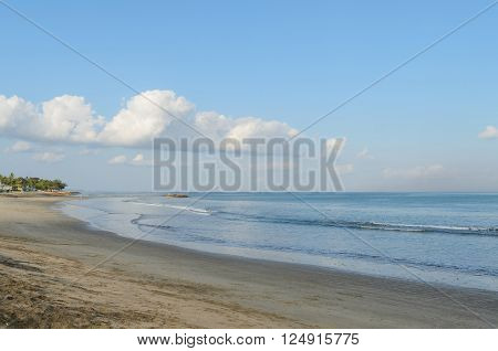 Kuta beach and beautiful sky in bali indonesia