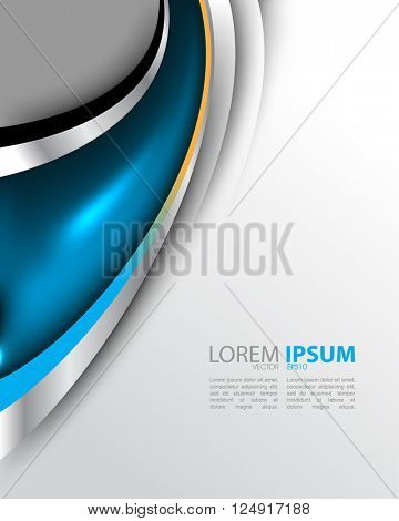 eps10 vector wave metallic elements corporate flat layout material background design
