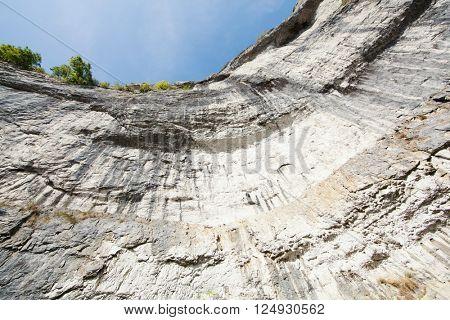 limestone cliff face