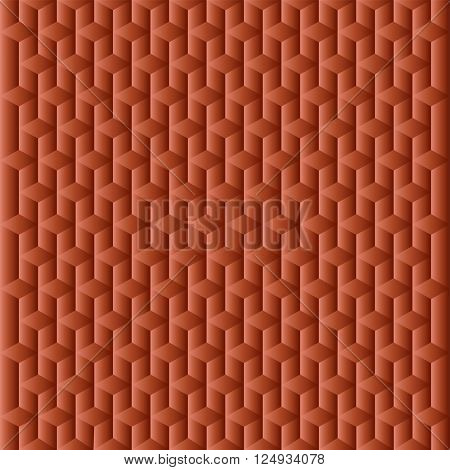 Abstract cubes brown with gradient as geometrical texture.