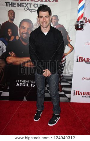 LOS ANGELES - APR 6:  Max Greenfield at the Barbershop - The Next Cut Premiere at the TCL Chinese Theater on April 6, 2016 in Los Angeles, CA